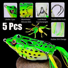 """5 PCS Large Frog Topwater Soft Fishing Frogs Lure Bait Bass Tackle 1/2 oz 2-3/8"""""""