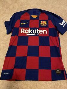 NWOT Nike Vaporknit 19-20 FC Barcelona Rakuten Match Soccer Jersey Medium M