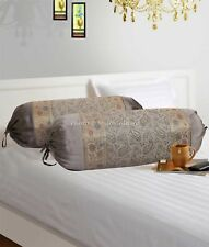 """Indian Handmade Cushion Brocade Bolster Pillow Cover Throw Round Cylinder 30"""""""