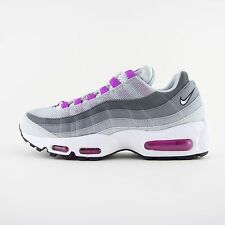 NUOVA linea donna Nike Air Max 95 White Violet Scarpe Da Ginnastica Scarpe Da Ginnastica UK 5.5 Kids 307960 001
