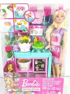 Barbie Doll Florist Playset Playdough Activity Set and Accessories by Mattel