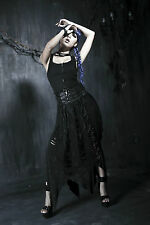 New Punk Rave Rock Gothic Long Skirt Q170 Black ALL STOCK IN AUSTRALIA! FastPost