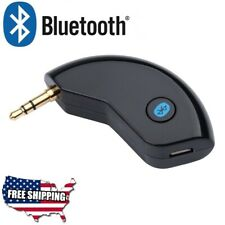 Car Bluetooth 3.5mm AUX Audio Receiver Speaker MP3 Music Streaming Adapter Mic