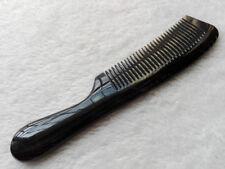 20-21cm Natural Black Ox Horn Fine-toothed Handheld Massage Health Care Comb