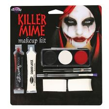 Killer Mime Make Up Kit Halloween Horror FX Special Effects Fancy Dress
