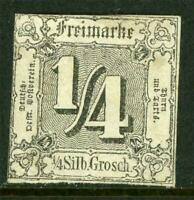 Germany 1863 Thurn & Taxis North ¼sgr Black SG #20 Mint J864 ⭐⭐⭐⭐⭐