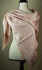 NEW Louis Vuitton NATURAL Monogram Silk/Wool Scarf/Shawl 100% Authentic M74441