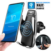 For Samsung S10/Plus Automatic Clamping Cordless Car Charger Fast Charging Mount