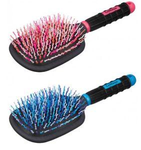 LeMieux TANGLE TIDY PLUS Mane & Tail Brush Detangler Horse Grooming Pink/Blue