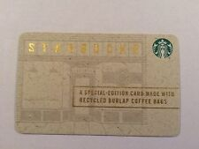 "NEW STARBUCKS 2016"" RECYCLED BURLAP COFFEE BAG"" GIFT CARD SPECIAL EDITION"