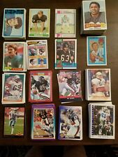 Assortment of 267 football cards of Bears Cowboys Dolphins Vikings