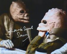 Star Wars Saurin Photo Autographed By Laurie Good & Stuart Freeborn Make-Up