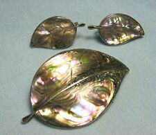 Pin / Pendant & Earrings Mexican Sterling Silver & Abalone