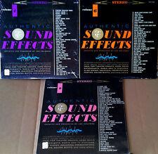 AUTHENTIC SOUND EFFECTS VOL. 4, 6, 9 - ELEKTRA LBL - (3) LP LOT