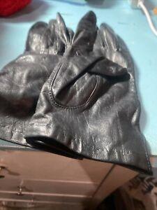 Vintage Aris Black Leather Gloves Size 8 Women's VNTG GLOVES SEXY GLOVES