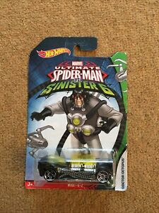 HOT WHEELS ULTIMATE SPIDERMAN  vs SINISTER 6 WHAT 4 2 NEW ON CARD