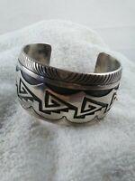 Navajo CARL ALLEN BEGAY Sterling Silver Cuff Bracelet 925: SIGNED: 64g!