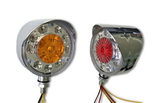 PAIR UNIQUE 12V RED/YELLOW LED CORNER LIGHTS MARKER LAMPS RENAULT MERCEDES FORD