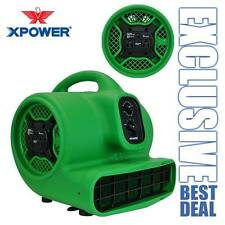 XPOWER P-430AT 1/3 HP Air Mover Carpet Dryer Blower Fan w/ Timer & Daisy Chain