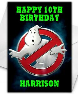 GHOSTBUSTERS Personalised Birthday Card - Large A5 - Ghostbusters Birthday Card