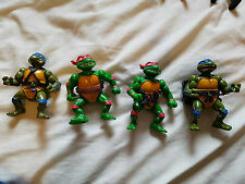 4x Vintage Playmates Teenage Mutant Ninja Turtles Figuras Leonardo Raphael