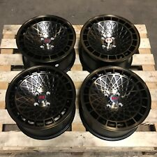 "White label Type T 15"" x 8"" 4x100 et25 alloys fit VW Golf Mk1 Mk2 Polo MX5 Blk B"