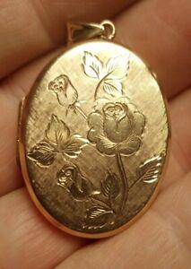 SOLID GOLD PENDANT LOCKET 9 CARAT
