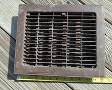 "VTG LOUVERED TIN METAL Floor Grate REGISTER Heating Vent 12 x10"" FITS 10 X 8"""