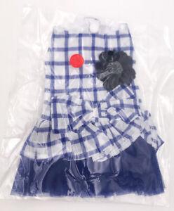 Bow knot Checker Plaid Ruffle Tutu Skirt Princess Dog Cat Dress Pet Clothes 3col