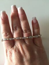 AFFARONE Splendido bracciale 1 ct di diamanti naturali in oro giallo e bianco