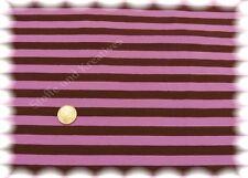 Campante Streifen Jersey braun rosa Hilco Baumwoll-Jersey 50 cm Stoff gestreift