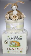 NAPPY CAKE GUESS HOW MUCH I LOVE YOU 2 TIER BABY BOY GIRL UNISEX BABY SHOWER