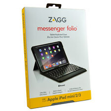 Genuine ZAGG Messenger Folio Bluetooth Keyboard Case Cover For iPad Mini 1/2/3