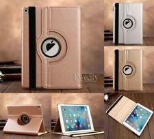 Luxury Bling Folio 360 Rotating Stand PU Leather Smart Case Cover For iPad