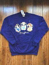 Disney Vintage Multi Princess Royal Purple Sweatshirt Youth Size Large New W/Tag