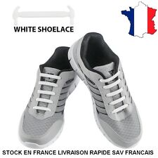 Lacets Elastique en Silicone Sans Lacage Etanche pour Chaussure Adults -16pcs
