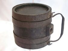 More details for early 19th century napoleonic war wooden small black powder keg.