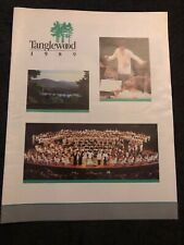Tanglewood 1989 Booklet The Boston Symphony Orchestra