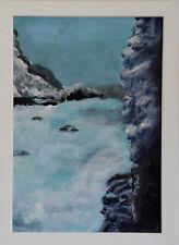 Hokkaido Japan Landschaft Acrylbild Wandbild Büttenpapier Signiert 24 x 32 Bild
