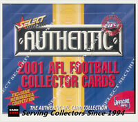 2001 Select AFL Authentic Trading Cards Series Factory Box (36 Packs)-Captains
