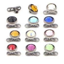 4mm Mix Colors Cz 14g Surgical Steel 58pcs Whoelsale Lot Dermal Anchor Screw Top