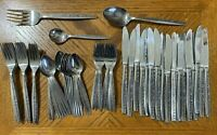Coventry BOUQUET Stainless Silverware Forks Spoons Teaspoons Knives Lot of 71