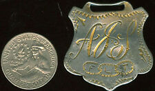 Old Watch Fob Hand Engraved Odd Fellows F L T Now On Sale! + Free Postage Ad632