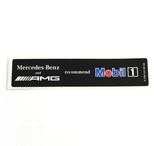 Mercedes-Benz AMG Mobil1 Huile Stickers Autocollants Logo Emblème A0045849438