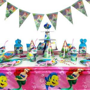 Arielle Meerjungfrau Party-Geschirr Kinder-Geburtstag Tischdeko Party Set 10 Per