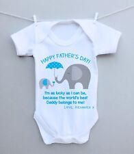 Personalised baby bodysuit vest grow 1st fathers day daddy grandad present gift