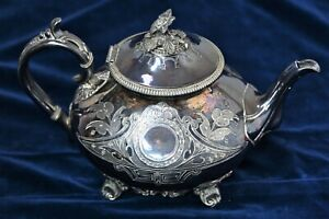 Antique Silver Plated Teapot James Dixon & Sons, Sheffield, Late 1800s