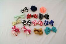 Kids Girls HUGE Hairbow Accessory Lot of 14x Pieces Multi Pattern