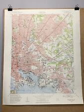 Baltimore East Maryland Northwest Harbor County Map Topographical 1953 Province