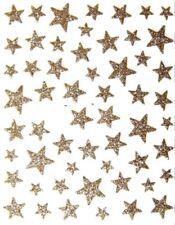 Glitter Nagelsticker Sterne, selbstklebende Nailartsticker, Nails